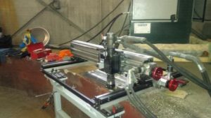 Mirage Portable Gantry Mill -Stator Sole Plate Milling